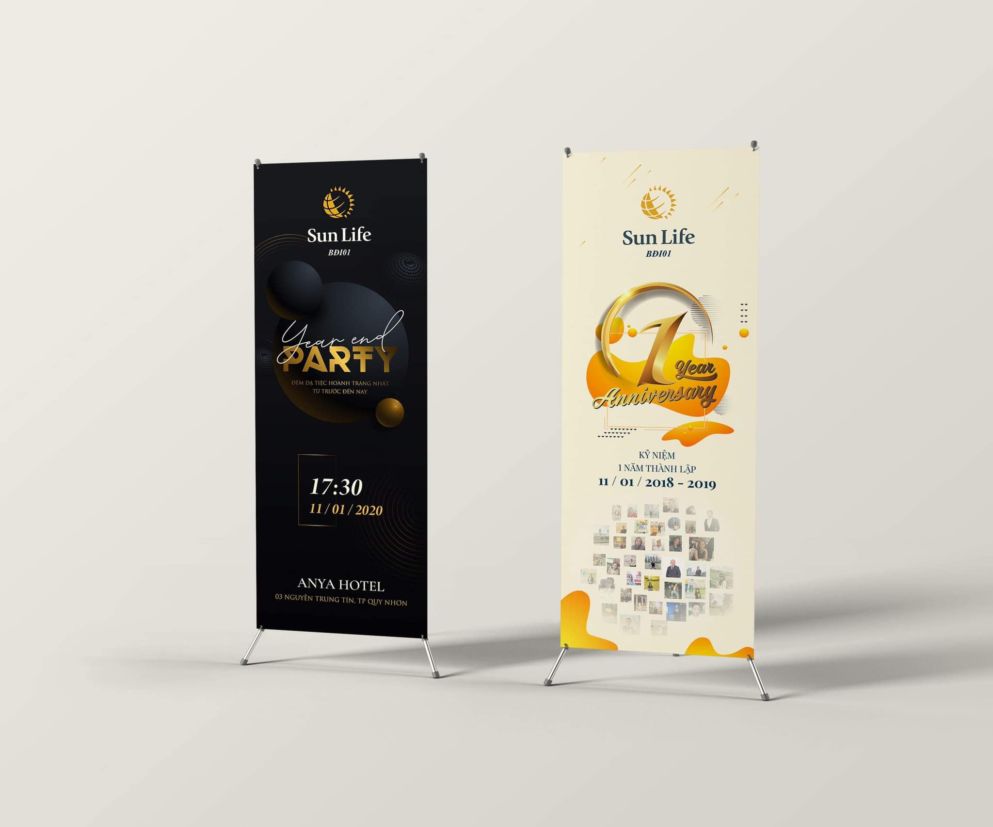 Standee Sun Life - Year End Party